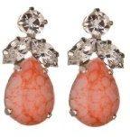 Cristallo Swarovski foglia orecchino in pesco Matrix - orecchini di cristallo Swarovski foglia nel Peach / gemma cristallo Swarovski orecchini pendenti