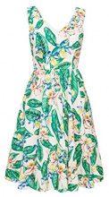 edc by Esprit 058cc1e011, Vestito Donna, Multicolore (Off White 110), 42 (Taglia Produttore: 36)