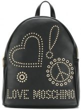 Love Moschino - stud and eyelet backpack - women - Polyurethane - OS - BLACK