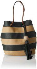 SwankySwans Lola Stripe 2 In 1 Tote Bag - Borse Donna, Verde (Olive), 12x33x24 cm (W x H x L)