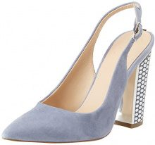 Guess Footwear Dress Sling Back, Sandali Punta Chiusa Donna, Blu (Light Blue), 37 EU