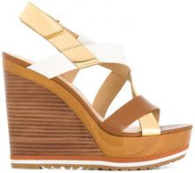 Michael Michael Kors - Sandali 'Mackay' con tacco a zeppa - women - Leather/rubber - 39, 40, 41, 37.5, 38.5, 39.5 - BROWN