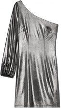 FIND Vestito Monospalla Metallizzato Donna, Argento (Silver), 44 (Taglia Produttore: Medium)