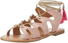 Buffalo Shoes 315719 Xq-818-48 5# Glitter, Sandali con Zeppa Donna, Multicolore (Rose 23), 37 EU
