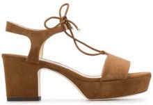 Jimmy Choo - Belize 65 sandals - women - Leather/Suede - 38.5, 39, 40, 36, 37, 41 - BROWN