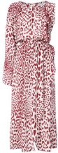Robert Rodriguez - leopard print dress - women - Silk - XS, S, L - RED