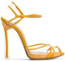 Casadei - Sandali con cinturino - women - Kid Leather/Leather/Vinyl/Chamois Leather - 35, 35.5, 36, 36.5, 37, 38.5, 39, 39.5, 40, 41 - YELLOW & ORANGE