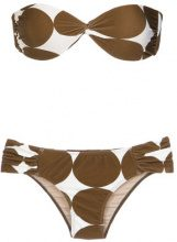 Adriana Degreas - Pois midi bandeau bikini set - women - Polyamide/Spandex/Elastane - P - unavailable