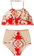 Adriana Degreas - printed bikini set - women - Polyamide/Spandex/Elastane - P - YELLOW & ORANGE