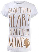 Disney Heart Beautiful Mind, T-Shirt Donna, White, 42