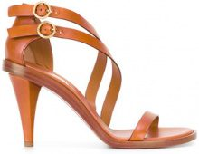 Chloé - Niko cone heeled sandal - women - Leather - 36, 37, 39.5 - BROWN