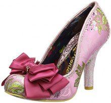 Irregular Choice Ascot Scarpe col Tacco Punta Chiusa Donna, Rosa (Pink Multi), 37 (4 UK)