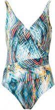 Lygia & Nanny - printed swimsuit - women - Polyamide/Spandex/Elastane - 46, 42, 44, 48 - BLUE
