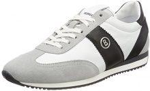 Bogner Monza 1D, Sneaker Uomo, Mehrfarbig (Grey/White/Black), 41 EU