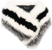 Cara Mila - Scaldacollo 'Cora' - women - Fox Fur - OS - BLACK