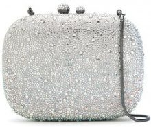 Isla - embellished clutch - women - Glass Fiber/Polyester - OS - Grigio