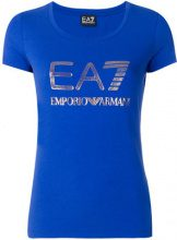 Ea7 Emporio Armani - T-shirt con logo - women - Cotton/Spandex/Elastane - XL - BLUE