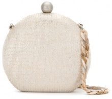 Isla - Glitter clutch bag - women - Velvet/Nylon/metal - OS - NUDE & NEUTRALS