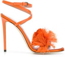 Marco De Vincenzo - Sandali con frange - women - Leather/Satin - 36, 37, 38, 39, 40, 41 - YELLOW & ORANGE