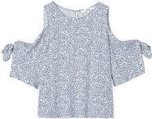 FIND Ditsy Cold Shoulder Camicia Donna, Blu (Blue), 40 (Taglia Produttore: X-Small)