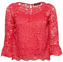 ESPRIT Collection 038eo1f019, Camicia Donna, Rosa (Pink Fuchsia 660), 40 (Taglia Produttore: 34)