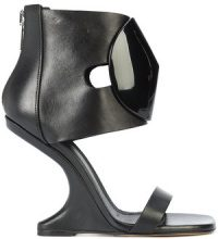 Rick Owens - Cantilevered sandals - women - Calf Leather/Bullhide Leather/plastic/rubber - 38, 39, 36, 37, 37.5, 38.5 - BLACK