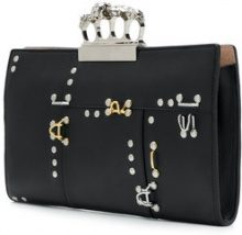 Alexander McQueen - Clutch 'Knuckleduster' - women - Leather - OS - Nero