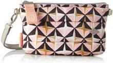 Oilily Ruffles Geometrical Shoulderbag Mhz 1 - Borse a spalla Donna, Rosa (Rose), 2x15x25 cm (B x H T)