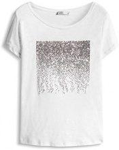 edc by Esprit 076CC1K070, T-Shirt Donna, Bianco (White), 36 (Taglia Produttore: Small)