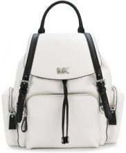 Michael Michael Kors - contrast trim backpack - women - Calf Leather - OS - WHITE