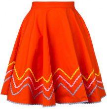 Anna October - zig zag skirt - women - Cotone - XS - Giallo & arancio