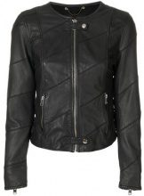 Diesel - Giacca con zip - women - Sheep Skin/Shearling/Cotton/Polyester/Viscose - XS, S, M, L - BLACK