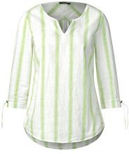 Cecil 340800, Blusa Donna, Grün (Sulphur Green 21336), Medium
