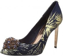 Ted Baker Peetch Text AF, Scarpe Col Tacco Punta Chiusa Donna, Multicolore (Stardust), 40 EU