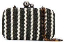 Isla - Regular clutch bag - women - Nylon/Velvet/metal - OS - Nero