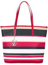 Armani Jeans - striped shopper tote - women - PVC - OS - MULTICOLOUR