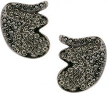 Camila Klein - strass embellishment earrings - women - Crystal/Metal (Other) - OS - METALLIC