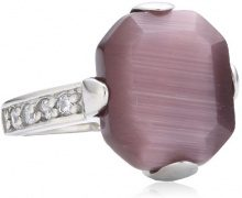 Mike Ellis New York - Anello, acciaio inossidabile con zirconia, Donna, taglia 14