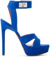 - Givenchy - Sandali 'Shark Lock' - women - Leather/Suede - 38.5, 36, 37, 40, 37.5, 39, 38, 36.5 - Blu
