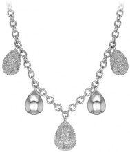Carissima Gold Collana da Donna in Oro Bianco 18 k (750) con Diamanti