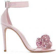 Alexander McQueen - embellished sandals - women - Leather/Satin - 36, 37, 37.5, 38, 39 - PINK & PURPLE