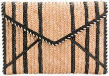 Rebecca Minkoff - Borsa a busta - women - Cotton/Straw/PVC - OS - NUDE & NEUTRALS