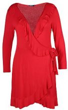 Plus Lisa Frill Detail Tea Dress