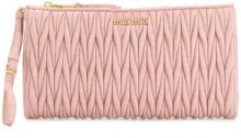 Miu Miu - pleated clutch bag - women - Leather - One Size - PINK & PURPLE