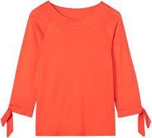 FIND T-Shirt a Manica Lunga con Nodo Donna, Rosso (Red Tomato), 48 (Taglia Produttore: X-Large)