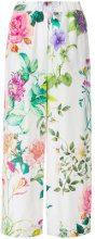 P.A.R.O.S.H. - Pantaloni ampi a fiori - women - Silk - S, L, XXS - WHITE