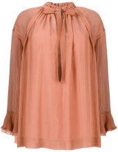 See By Chloé - Blusa con fiocco - women - Cotton/Silk/Viscose - 36, 40, 38 - BROWN