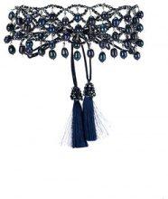 Night Market - Choker con perline pendenti - women - glass - OS - BLUE