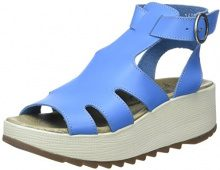 Fly London Kane991fly, Sandali con Zeppa da Donna, Blu (Smurf Blue 004), 41 EU