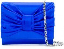 Casadei - Clutch con fiocco - women - Satin/Kid Leather - OS - BLUE